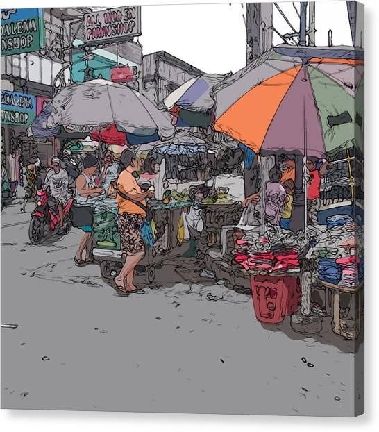 Philippines 708 Market Canvas Print