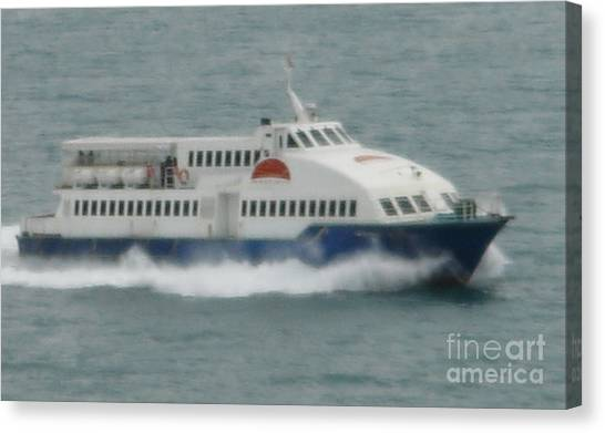 Philippines Island Ferry Canvas Print by Mike Holloway