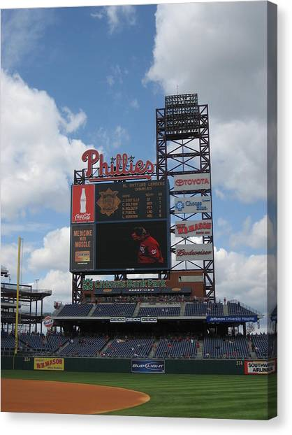 Phillies Canvas Print by Jennifer  Sweet