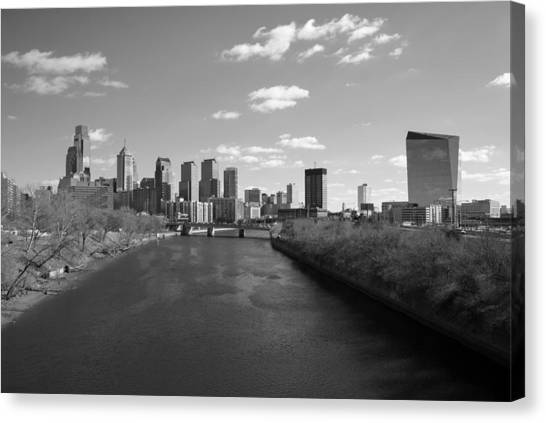 Philly B/w Canvas Print