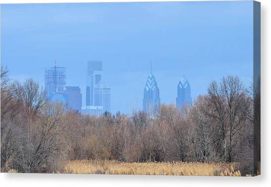 Philly From Afar Canvas Print