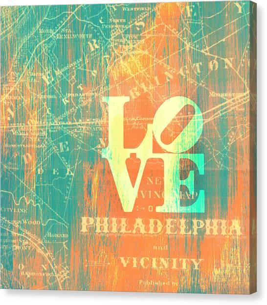 Philly Canvas Print - Philly Love V10 by Brandi Fitzgerald