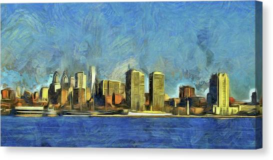 Philly Canvas Print - Philly Skyline by Trish Tritz