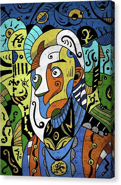 Canvas Print featuring the digital art Philosopher by Sotuland Art