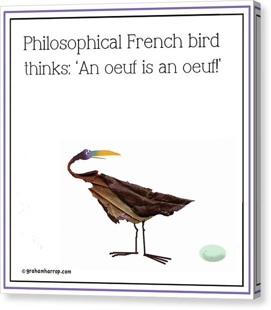 Philosophical Bird Canvas Print