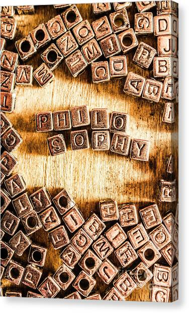 Academic Art Canvas Print - Philosophy Word Art by Jorgo Photography - Wall Art Gallery