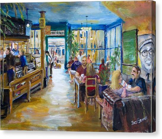 Canvas Print - Philz Coffee San Francisco by Jack Skinner