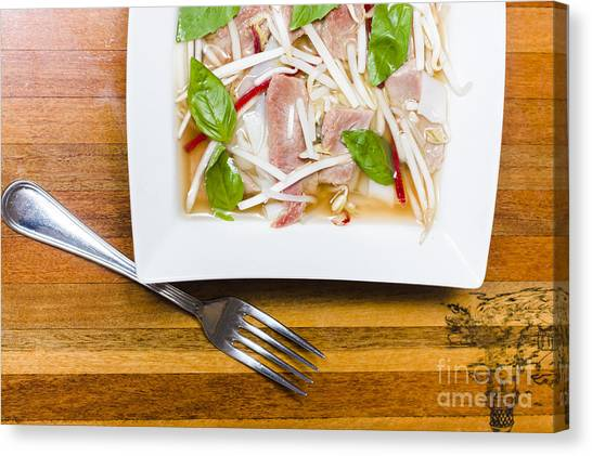 Vietnamese Canvas Print - Pho Lao Style Noodle Soup by Jorgo Photography - Wall Art Gallery
