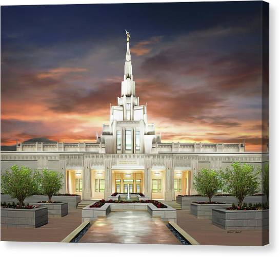 Phoenix Arizona Temple Canvas Print by Brent Borup