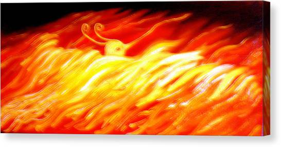 Phoenix Canvas Print by Barbara Stirrup