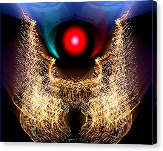Phoenix On Fire Canvas Print
