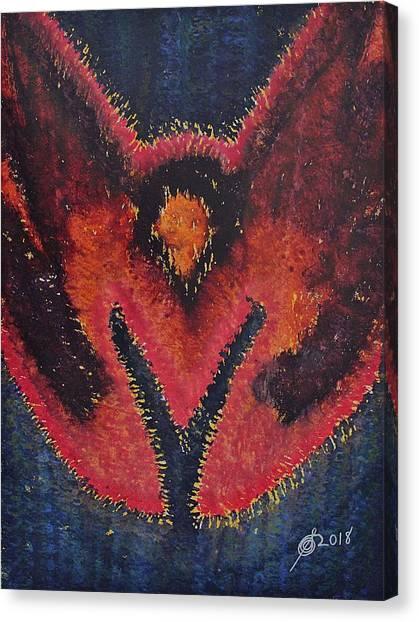 Phoenix Rising Original Painting Canvas Print