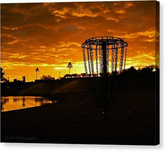 Disc Golf Canvas Print - Phoenix Rising by Spencer Mallett
