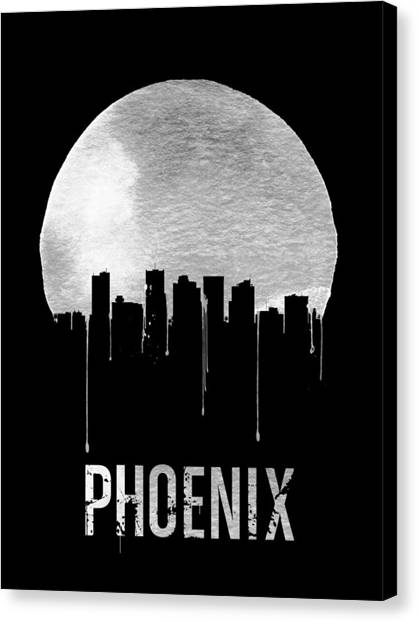 Phoenix Canvas Print - Phoenix Skyline Black by Naxart Studio