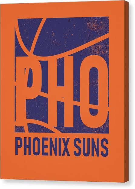 Phoenix Suns Canvas Print - Phoenix Suns City Poster Art by Joe Hamilton