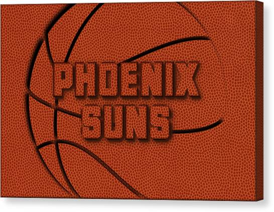 Phoenix Suns Canvas Print - Phoenix Suns Leather Art by Joe Hamilton