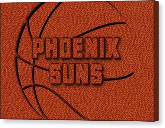 Phoenix Suns Canvas Print - Phoenix Suns Leather Art by Joe Hamilton