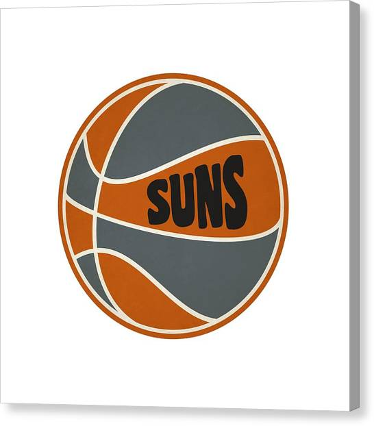 Phoenix Suns Canvas Print - Phoenix Suns Retro Shirt by Joe Hamilton
