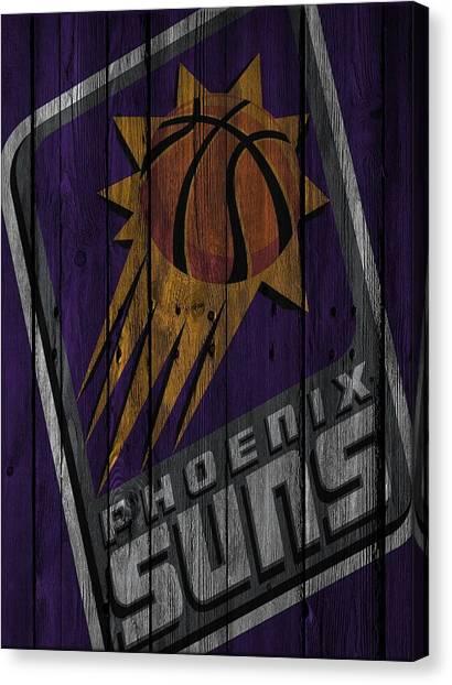 Phoenix Suns Canvas Print - Phoenix Suns Wood Fence by Joe Hamilton