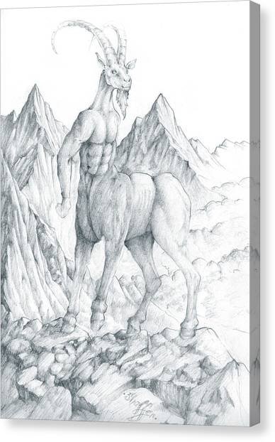 Pholus The Centauras Canvas Print
