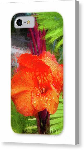 Canna Canvas Print - Phone Case 1 by Mona Stut