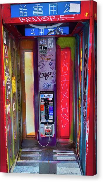 Phone Graffiti Series 5 Canvas Print