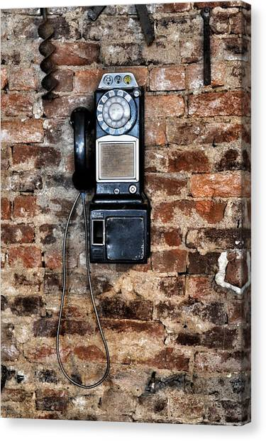Pay Phone  Canvas Print