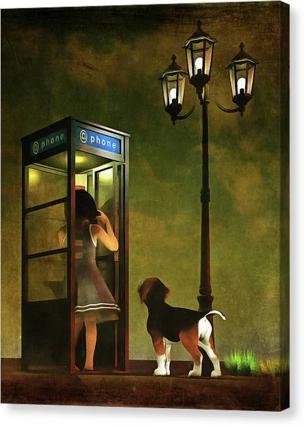 Phoning Home Canvas Print