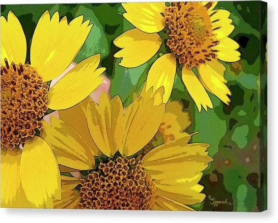 Yellow Wildflowers Photograph II Canvas Print