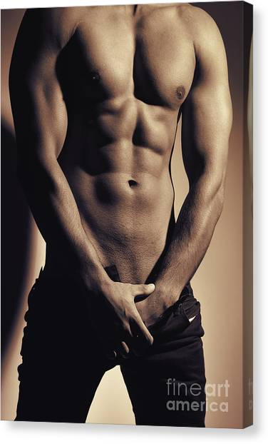 Photograph Of A Sexy Man #9979g Canvas Print