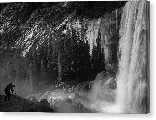Photographer At Vernal Falls Canvas Print