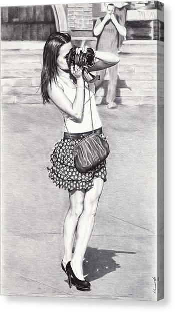 Fineart Canvas Print - Photographer - Ballpoint Pen Art by Andrey Poletaev