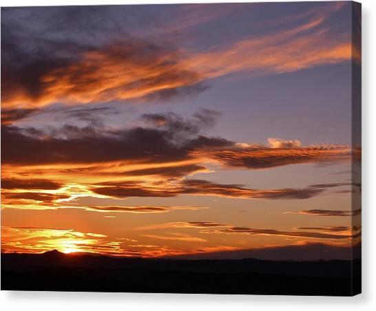 John Adams Canvas Print - Santa Fe Sunset by John Adams
