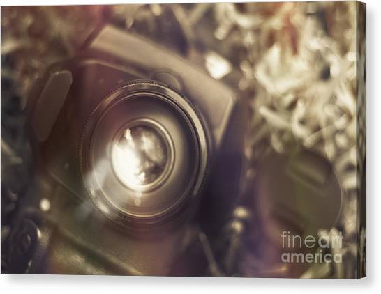 Electronic Instruments Canvas Print - Photographic Lens Reflections by Jorgo Photography - Wall Art Gallery
