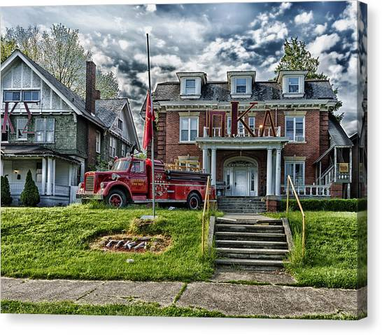 Alpha Kappa Alpha Canvas Print - Pi Kappa Alpha Fraternity House - Marshall University by Mountain Dreams