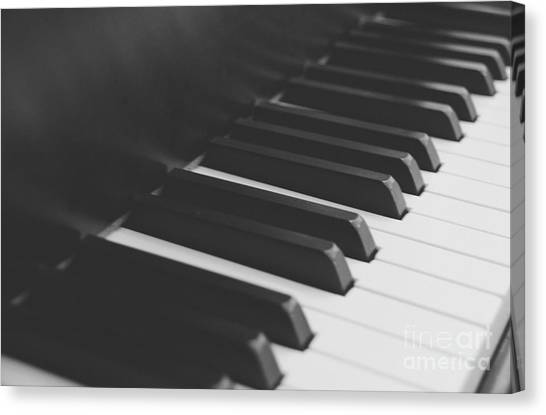 Synthesizers Canvas Print - Piano 2 by Andrea Anderegg