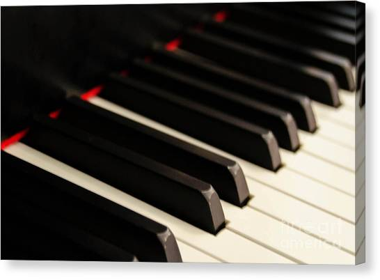 Synthesizers Canvas Print - Piano 3 by Andrea Anderegg