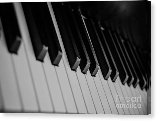 Synthesizers Canvas Print - Piano by Andrea Anderegg