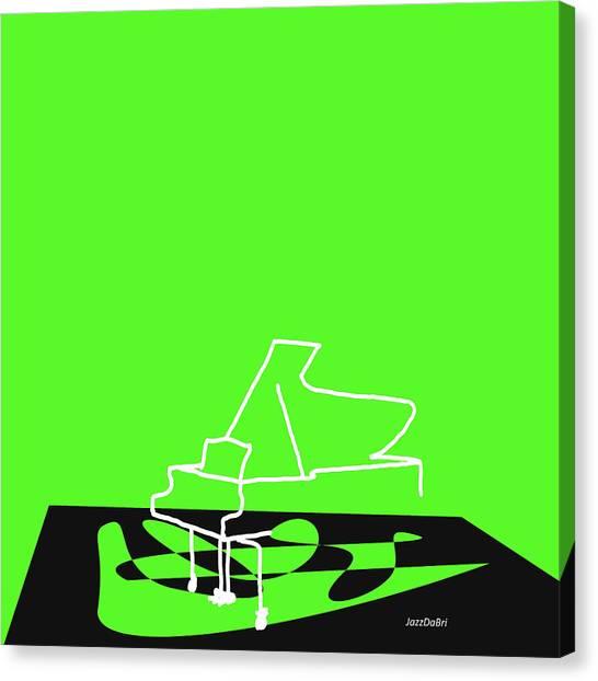 Piano In Green Canvas Print