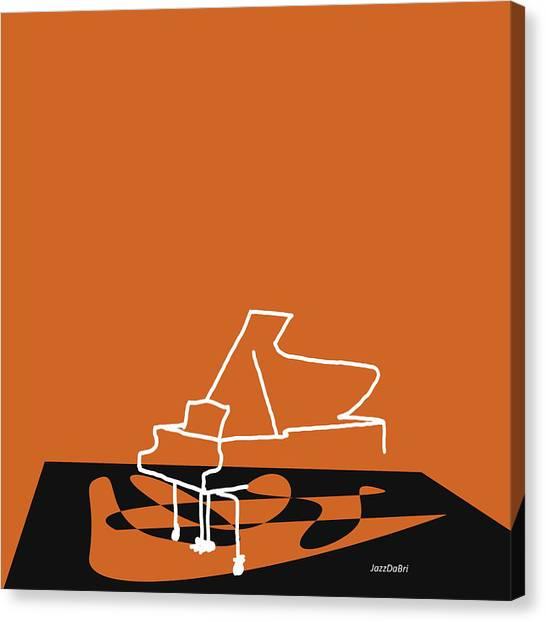 Piano In Orange Canvas Print
