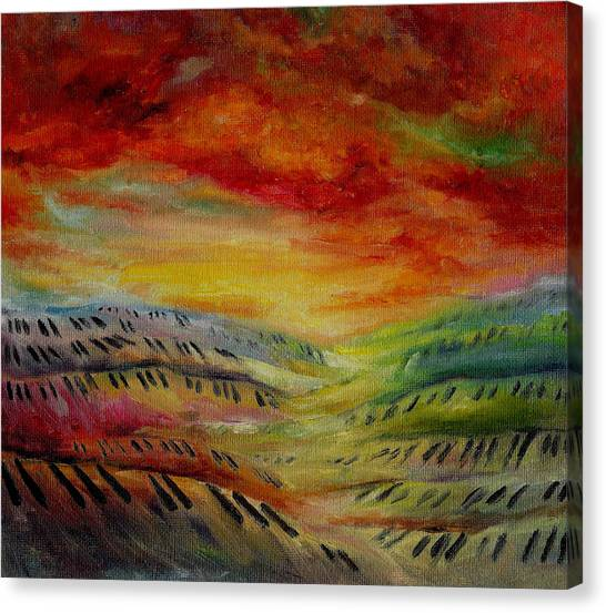 Piano Key Dusk Canvas Print by Stephanie Cox