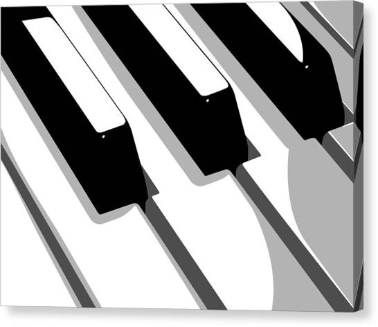 Pop Art Canvas Print - Piano Keyboard by Michael Tompsett