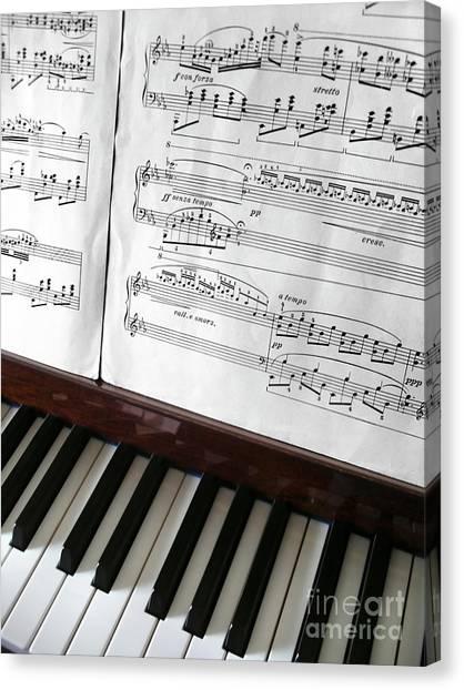Mozart Canvas Print - Piano Keys by Carlos Caetano