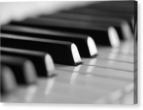 Piano Keys Canvas Print by Falko Follert