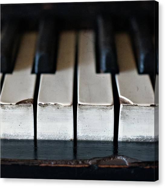 Pianos Canvas Print - Piano Keys by Julie Rideout