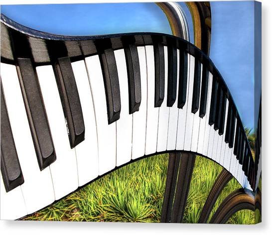 Piano Land Canvas Print