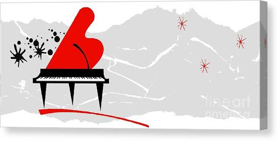 Piano Canvas Print by Mimo Krouzian