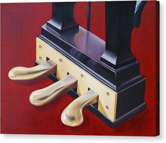 Piano Pedals Canvas Print