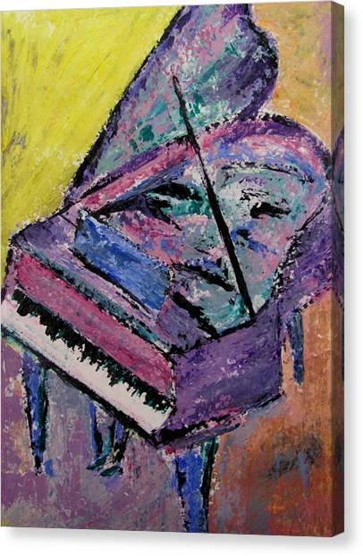 Piano Pink Canvas Print
