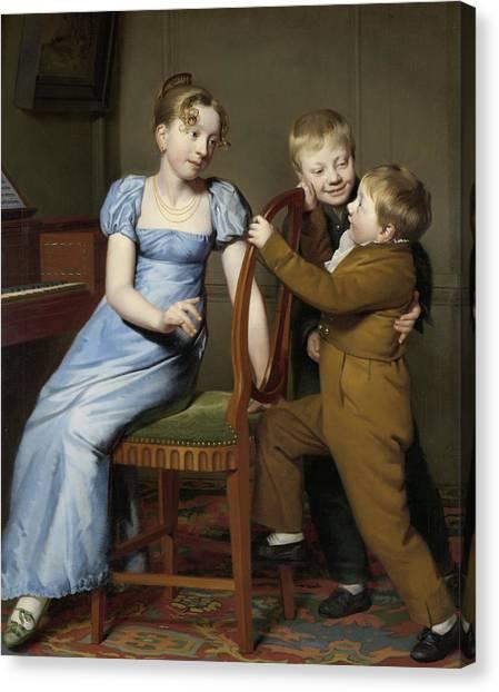 Big Sister Canvas Print - Piano Practice Interrupted by Willem Bartel van der Kooi
